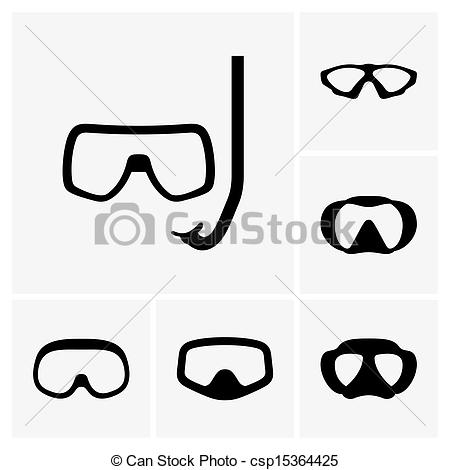 Vector Illustration of Scuba masks.