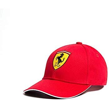 Ferrari Red Rookies Young Kids Classic Hat Cap w/Scuderia Ferrari Logo Badge.