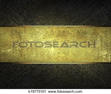 Clipart of dark texture with gold scuffed with a gold nameplate.