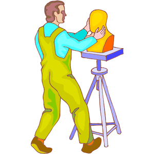 Sculptor clipart, cliparts of Sculptor free download (wmf, eps.