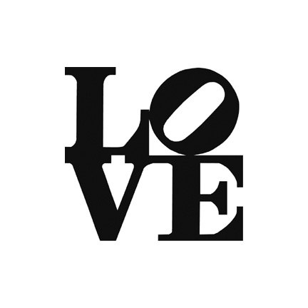 Love sculpture clipart black and white.