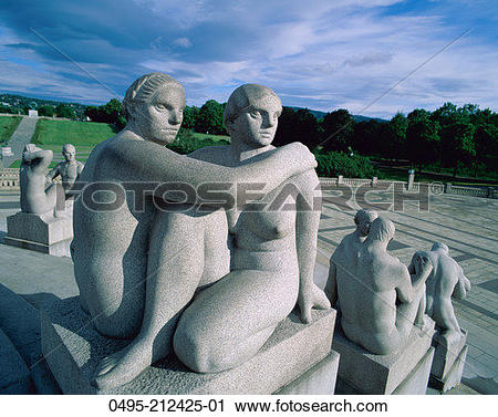 Stock Photography of Norway, Vigeland Sculpture Park, Stone.