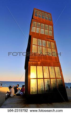 """Stock Photo of Sculpture L?estel ferit"""" ( The wounded star ) by."""