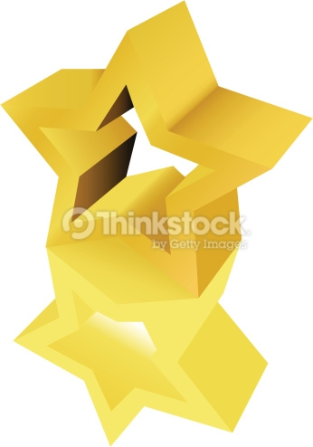 Gold Star Award Sculpture Statue Vector Art.