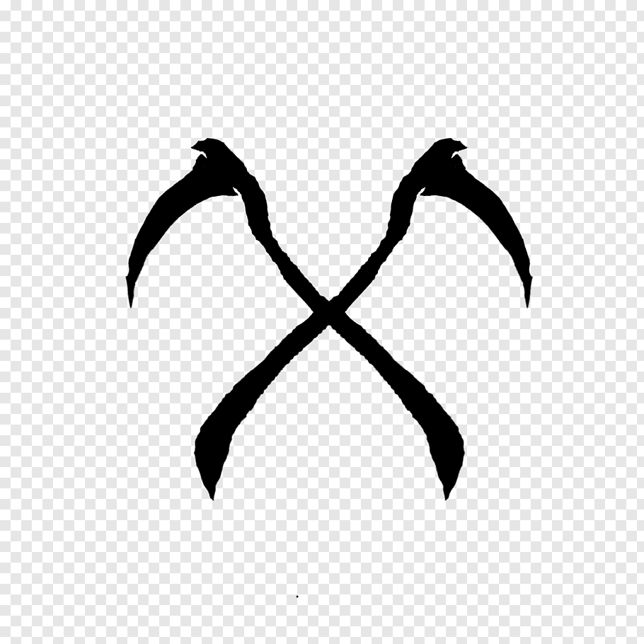 Copyright Symbol, Scythe, Silhouette, Logo, Death, Drawing.