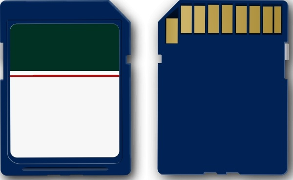 Sd Card clip art Free vector in Open office drawing svg ( .svg.
