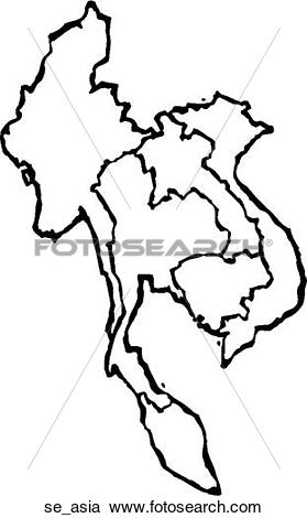 Clipart of Southeast Asia se_asia.