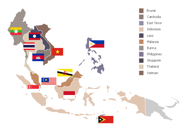 Japanese Invade Southeast Asia Clipart.