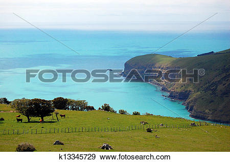 Stock Photograph of Sea bay view rural area k13345729.
