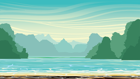 Bay of water clipart.