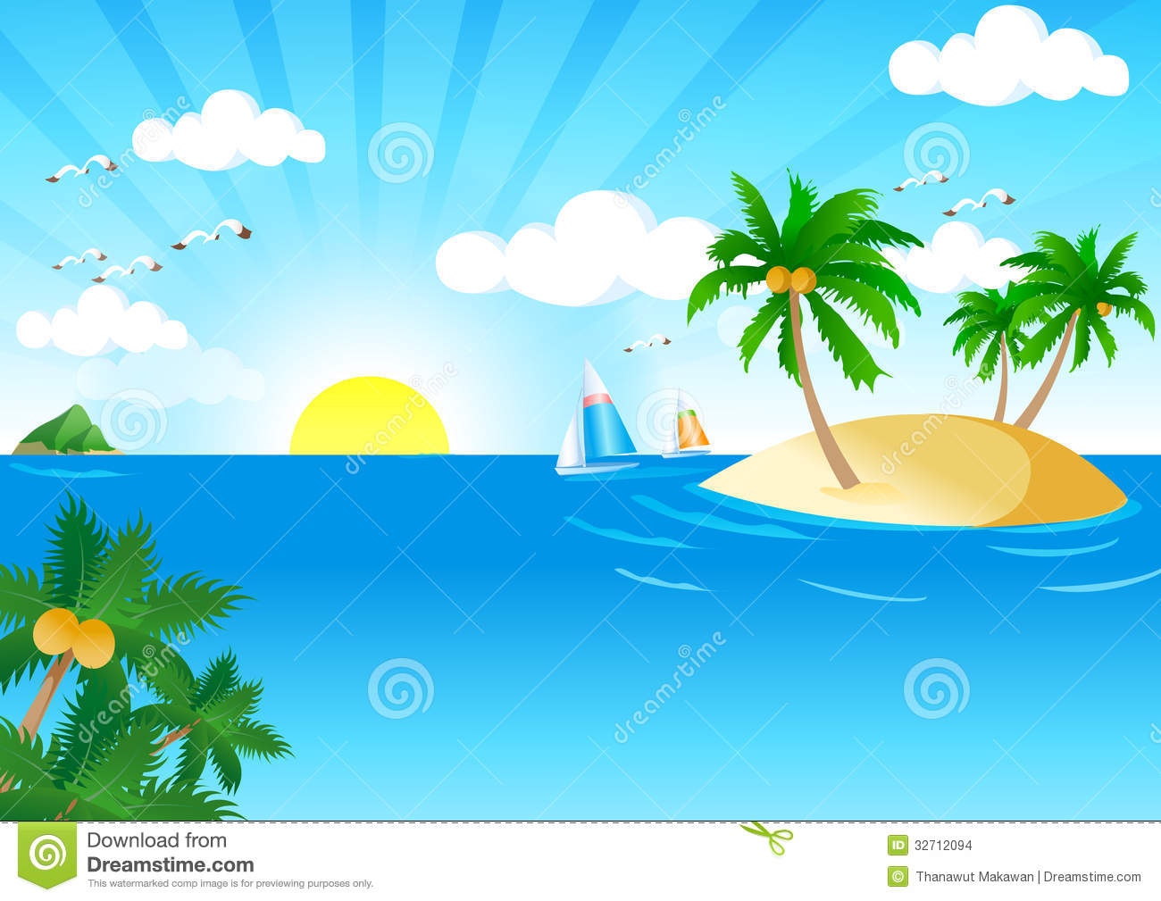 natural sea clipart