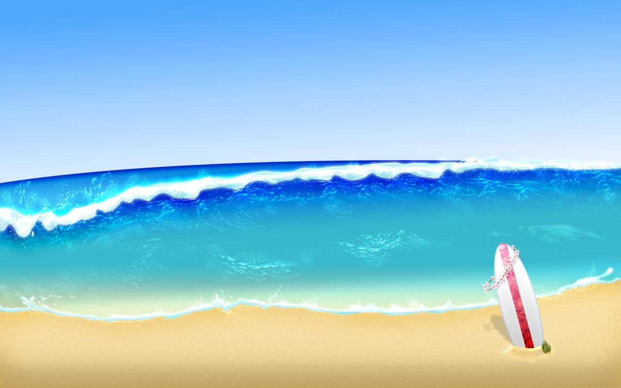 Sea beach clipart.