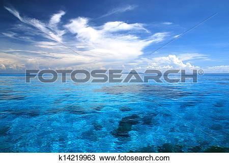 Stock Photo of Beautiful blue sea ,blue sky from tachai island in.
