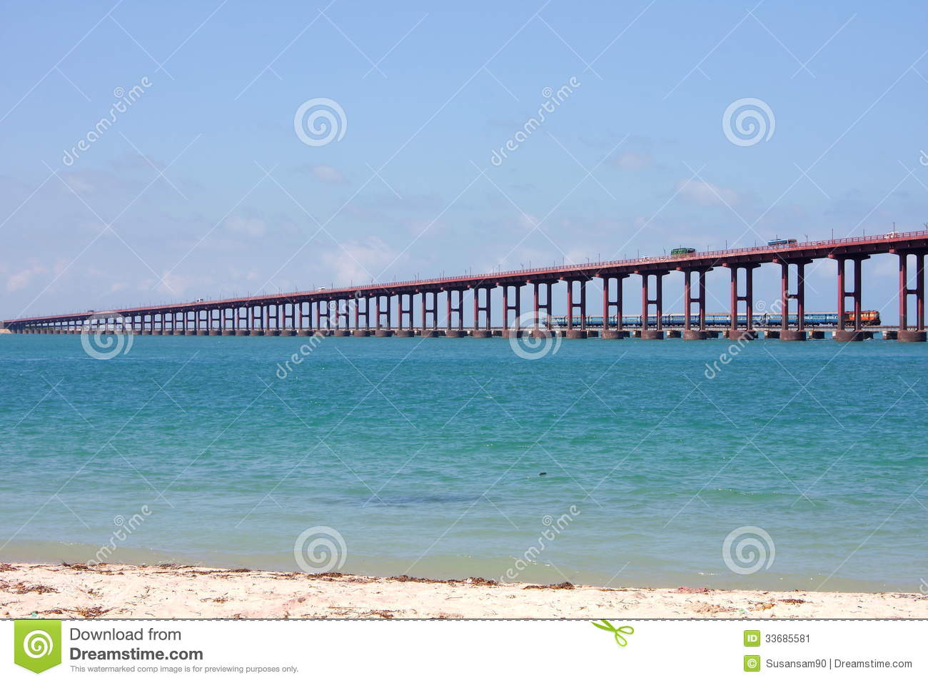 Pamban Bridge,Rameswaram,South India. Stock Image.
