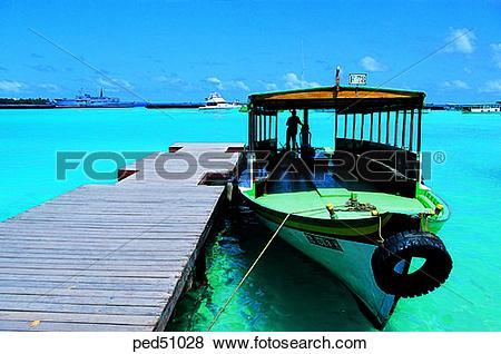 Pictures of transportation, day, bridge, Dhoni, Malaysia, Maldives.