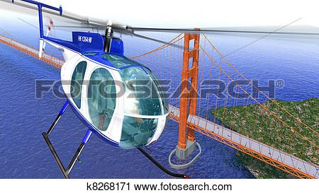 Birds eye view of a bridge clipart.