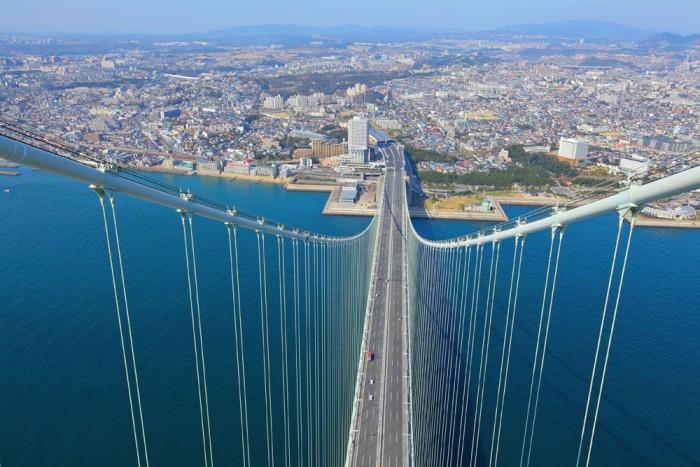 Majestic scenery sea bridge picture material.