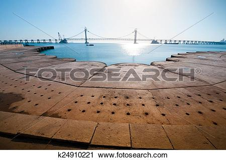 Stock Photography of Xinghai Bay Cross.