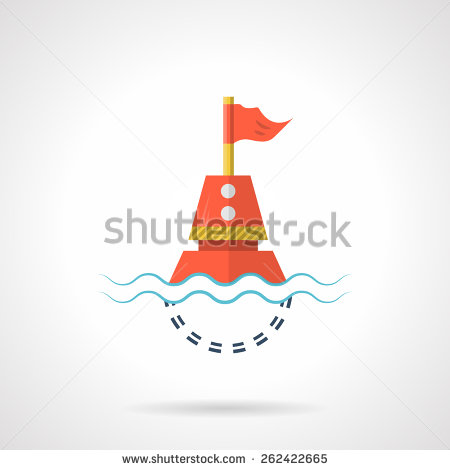 Water buoy clipart.