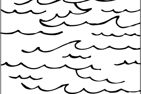 Ocean Clipart Black And White.