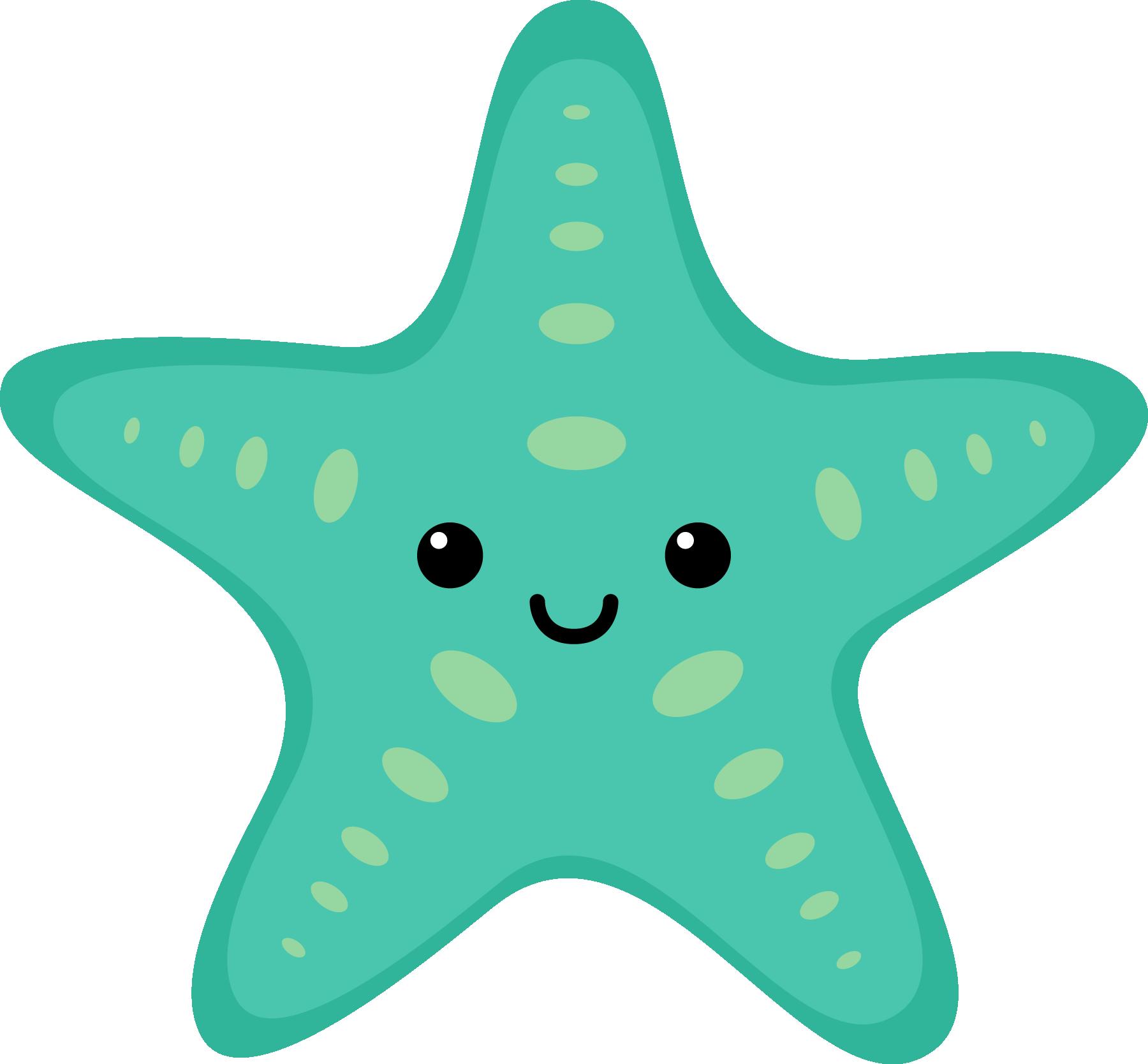 Sea creature clip art images.