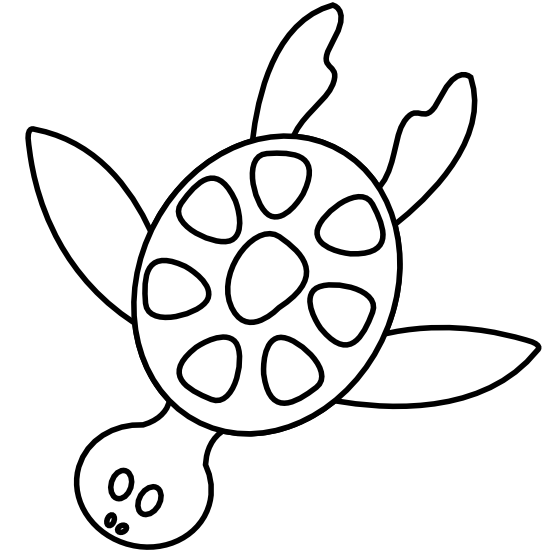 Ocean animals clipart black and white.