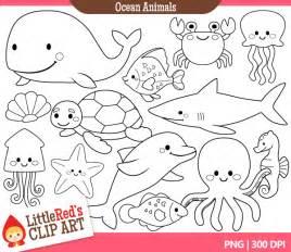 sea creature clipart black and white 20 free Cliparts ...
