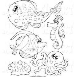 Similiar Black And White Sea Animals Keywords.