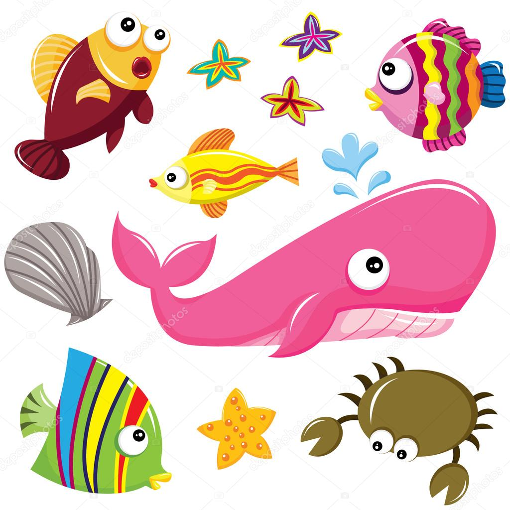 Sea Creature Clipart.