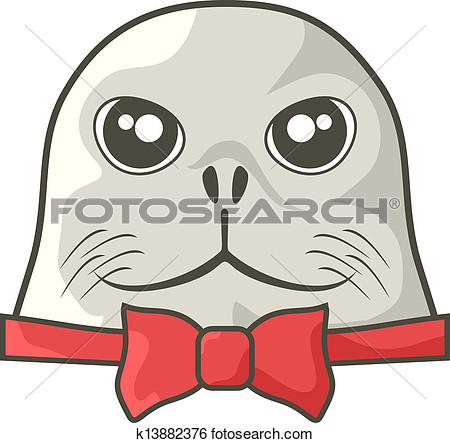 Clipart of a sea dog.