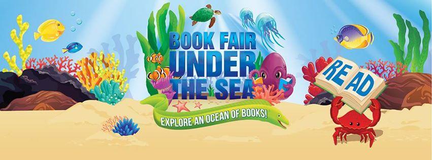 Scholastic book fair under the sea clipart.