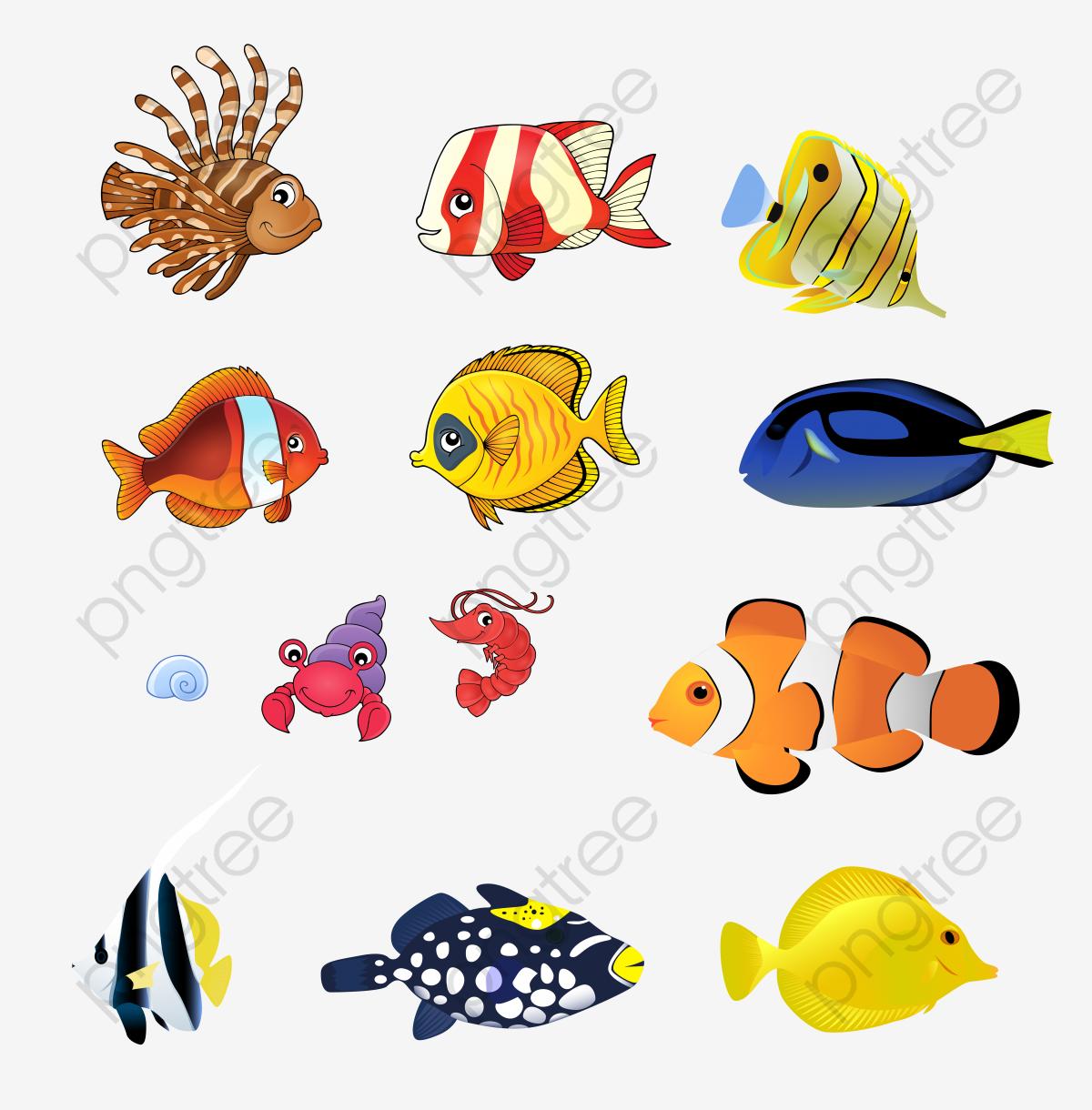 Vector Cartoon Deep Sea Fish, Cartoon Vector, Sea Vector.