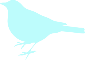Sea Foam Blue Bird Clip Art at Clker.com.