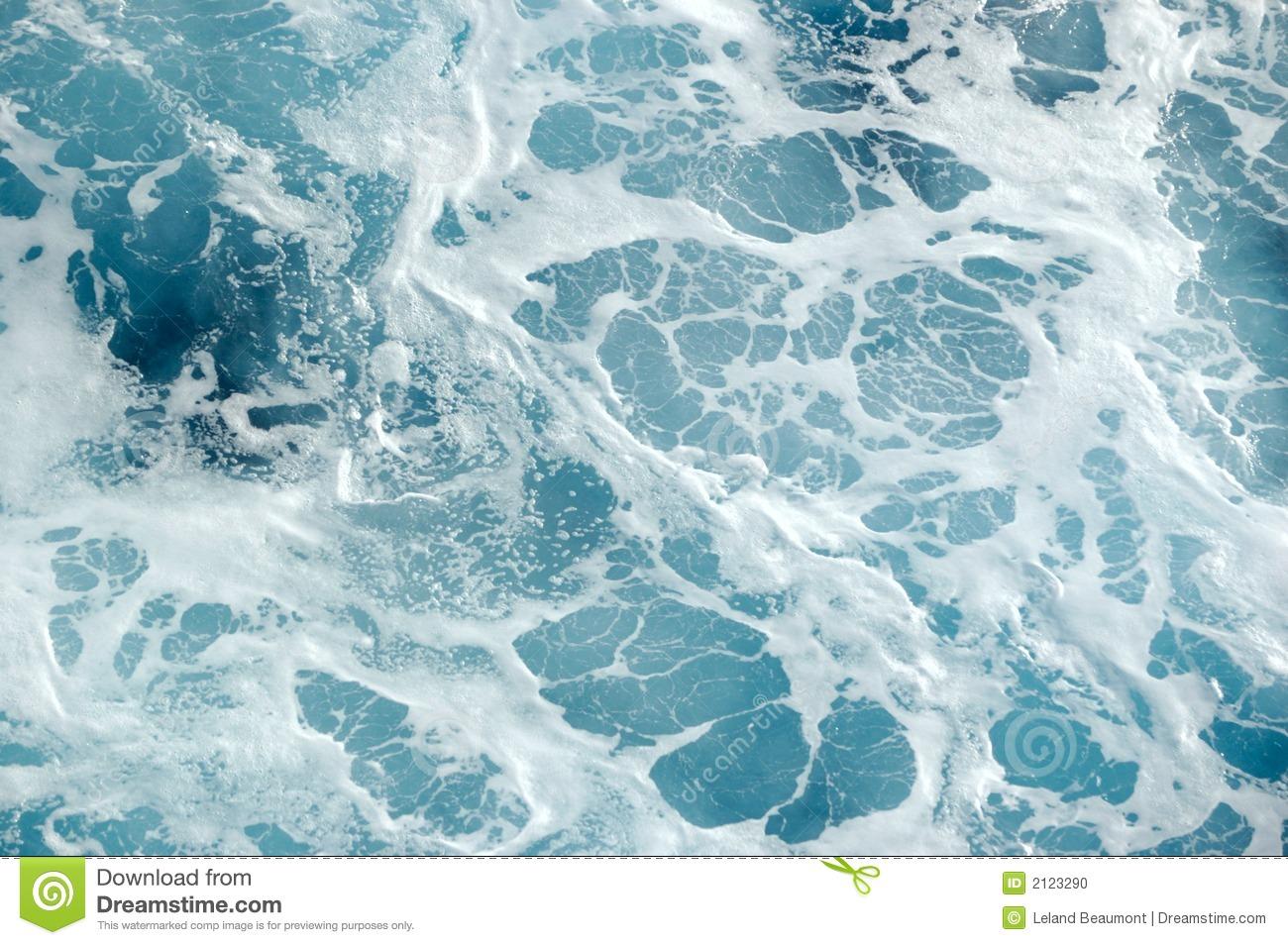 Sea Foam Stock Photo.
