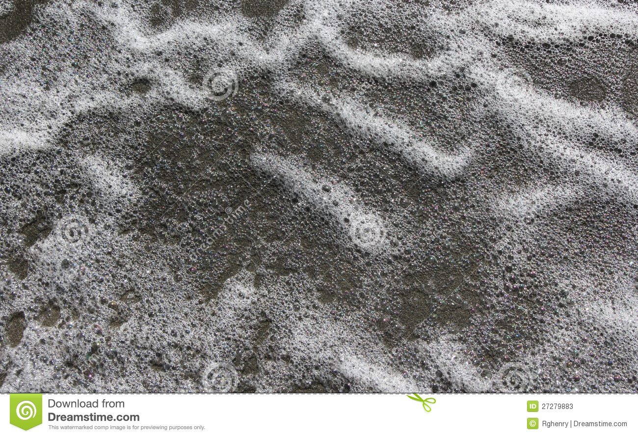 Texture Of Sea Foam. Stock Photo.
