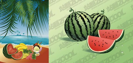 Vector material sea fruit feast, Vector Images.