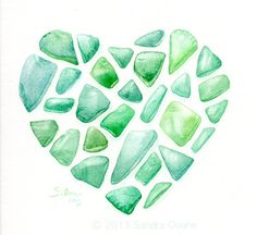 Sea Glass Clipart.
