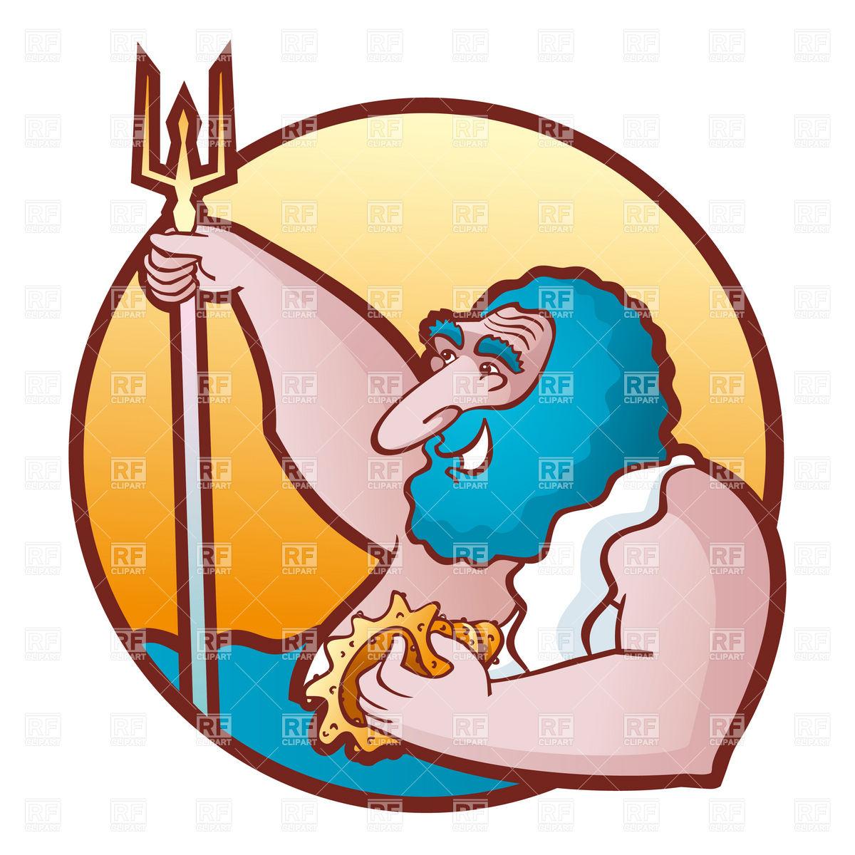King of the Sea God Neptune Clip Art.