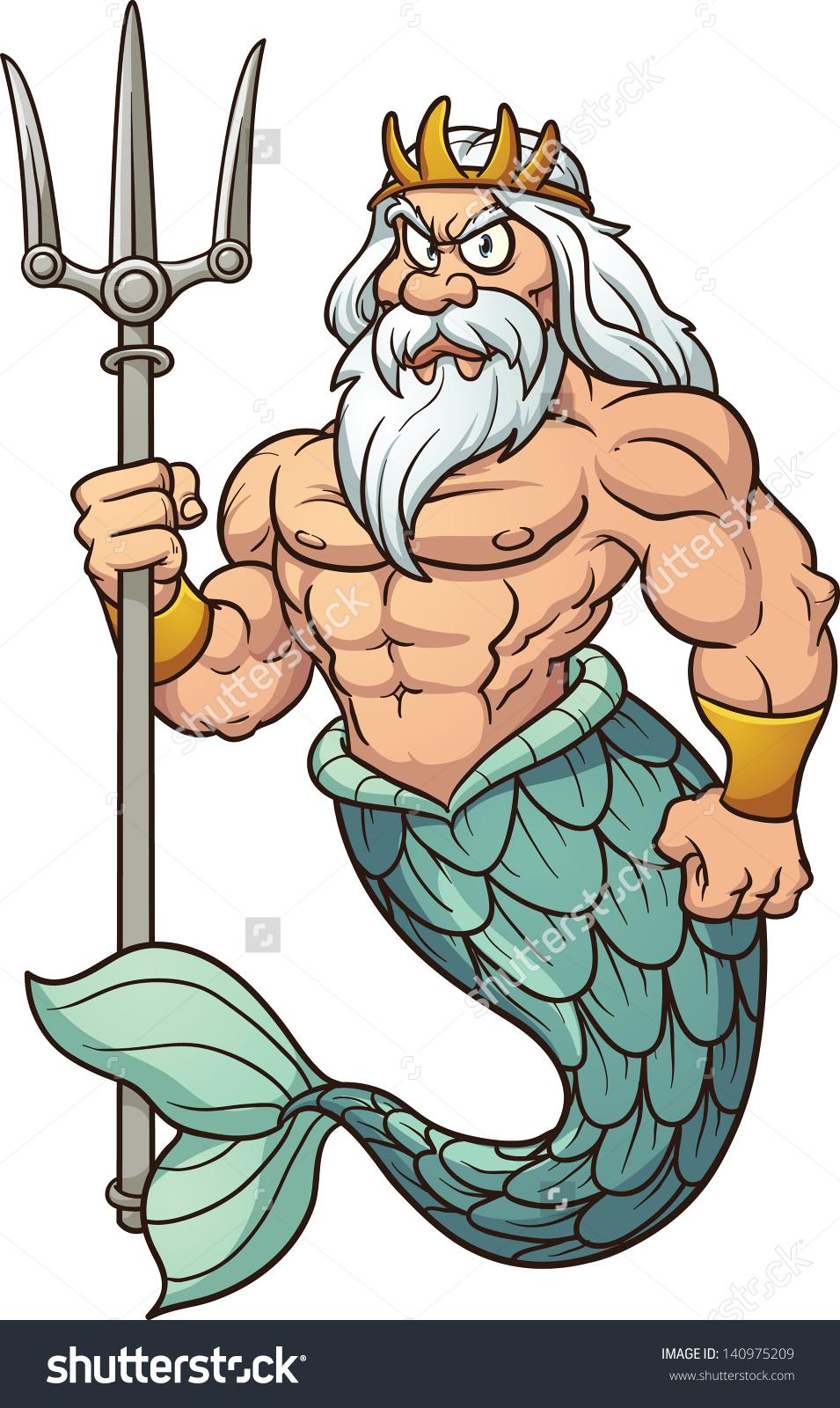 Neptune god clipart.