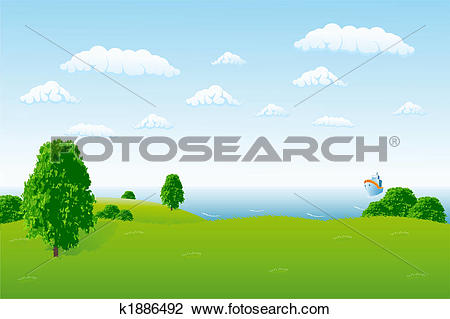 Clip Art of Sea horizon k1886492.