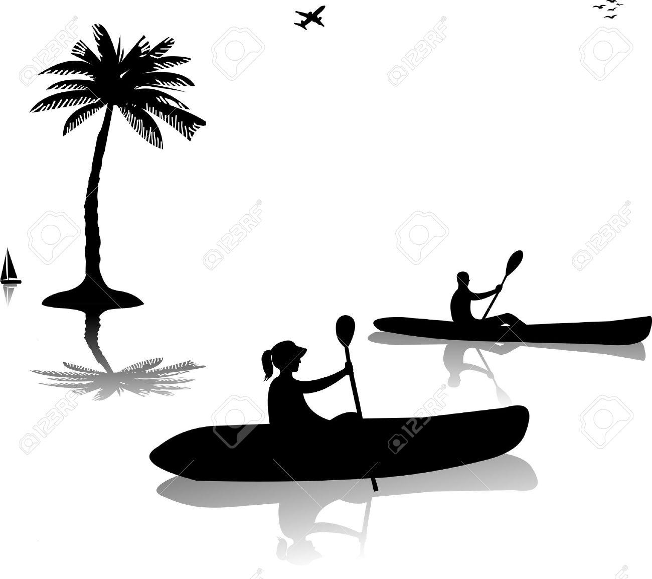 Free kayak clipart images.