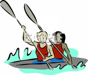 Sea Kayaking Clip Art.