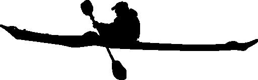 Kyak silhouette clipart.