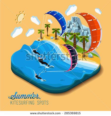 Kitesurfing Stock Vectors, Images & Vector Art.