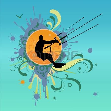 230 Kiteboarding Stock Vector Illustration And Royalty Free.