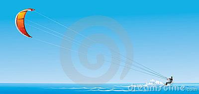 Kitesurfing Stock Illustrations.