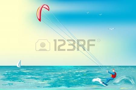 460 Kite Surfing Stock Illustrations, Cliparts And Royalty Free.