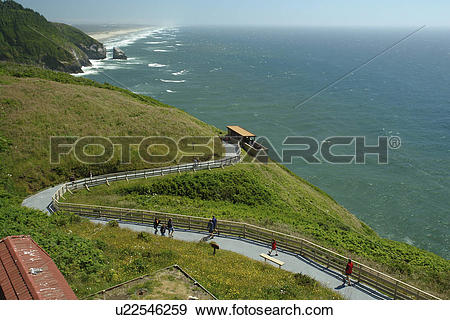 Stock Photograph of Florence, OR, Oregon, Pacific Ocean, Pacific.
