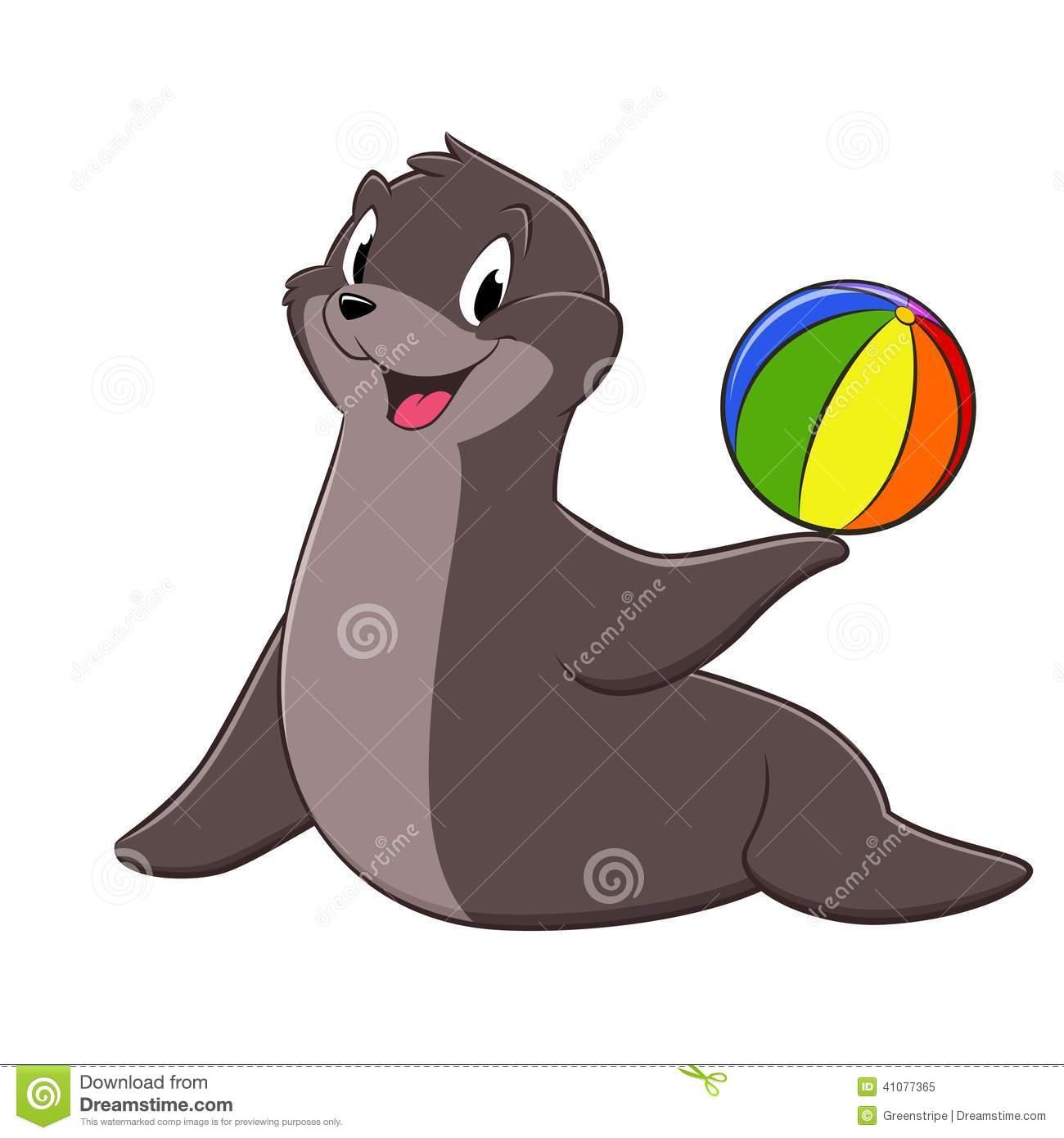 Cute sea lion clipart.