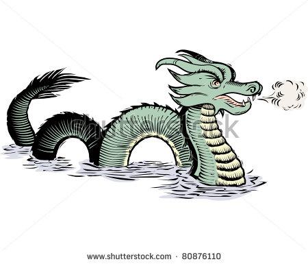 Sea monster clipart #6